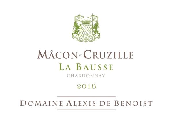 Etiquette La Bausse Mâcon-Cruzille 2018 Alexis de Benoist