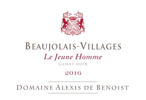 Le Jeune Homme Beaujolais-Villages 2016 Domaine Alexis de Benoist
